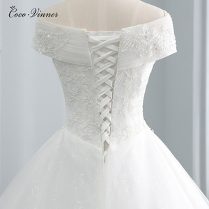 Image 4 - Beatiful Pearls Beading Cap Sleeve Dubai Wedding Dress 2020 Ball Gown Lace up Embroidery Vintage Bride Dress Wedding Gown WX0107