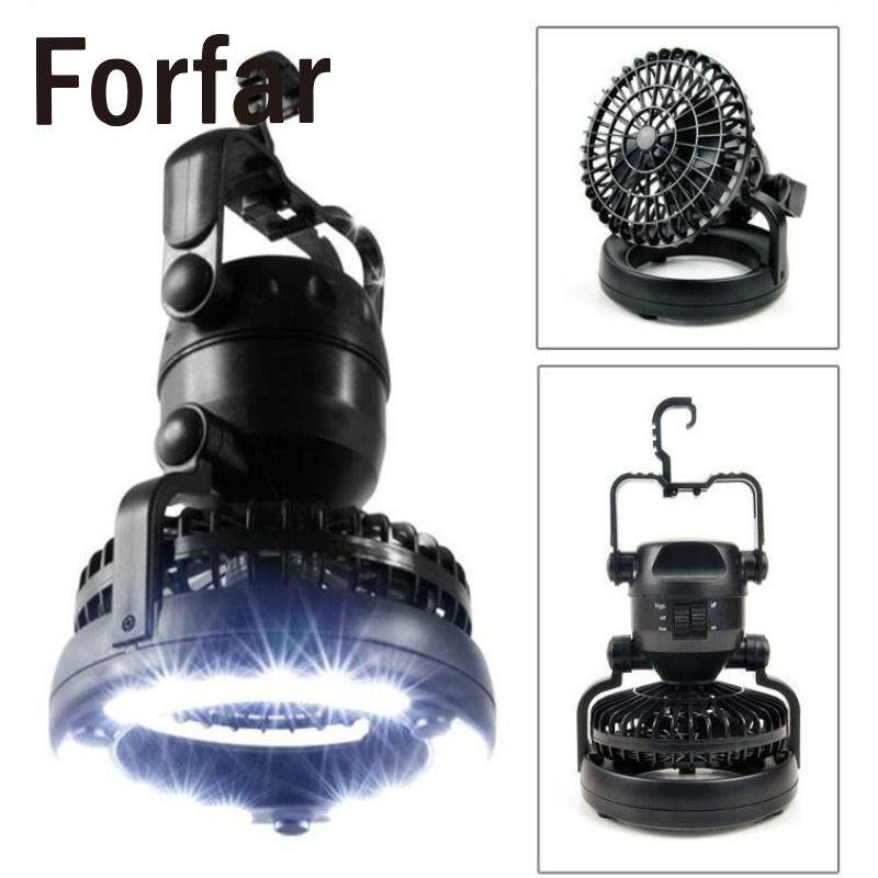 Forfar Camping Fan Light 18 LED Camping Headlamp Hanging Tent Lantern Hiking Fishing Camping Light Bicycle Lamp Mountain