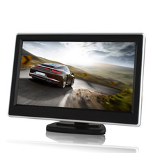 5 Inch TFT LCD Car Monitor with 2 Video Input Resolution 800*480 Car Parking Monitor for Car Camera DVD/VCD/GPS Video Equipment
