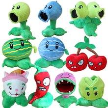 10pcs/lot 13-20cm Plants vs Zombies Plants Stuffed Plush Toys Doll Game PVZ Soft Plush Toy Brinquedos for Kids Christmas Gifts
