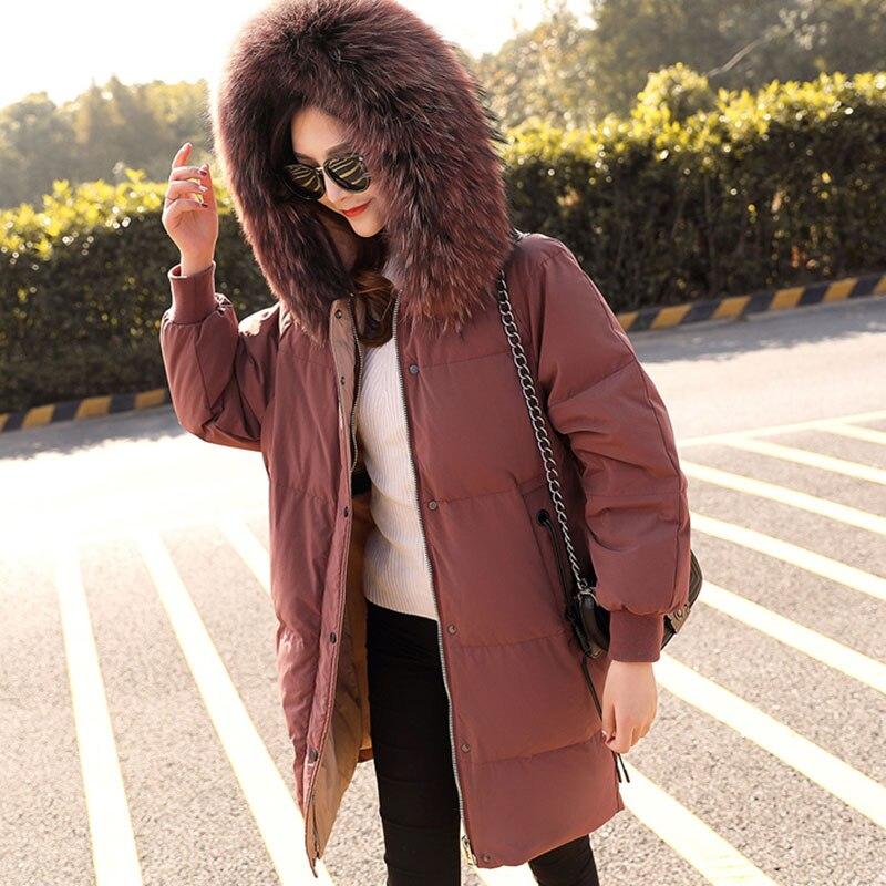 Capuchon Black De Moyen Hiver Mode Le Femmes 2018 Bean Paste red Nouveau Long Haute Veste À Chaud Grand Taille Confortable Bas Qualité Vers Lh112 YFRnrF