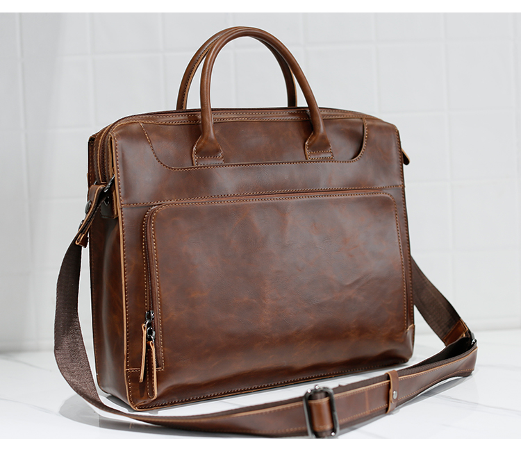 HTB1R.P7kqmgSKJjSsphq6Ay1VXav Brand Men's Briefcase Handbag Crazy Horse Pu Leather Messenger Travel Bag Business Men Tote Bags Man Casual Crossbody Briefcases