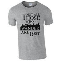 Leqemaoないすべての人ワンダは失われたtシャツ-lotrホビットインスパイアメンズギフトトップoネックシャツプラスサイズtシャツグレースタイル