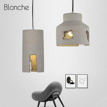 Industrial Pendant Lights Loft Decor Hanging Lamp Hollow Out Cement Pendant Lamp for Home Bedroom Bar Vintage Light Fixtures