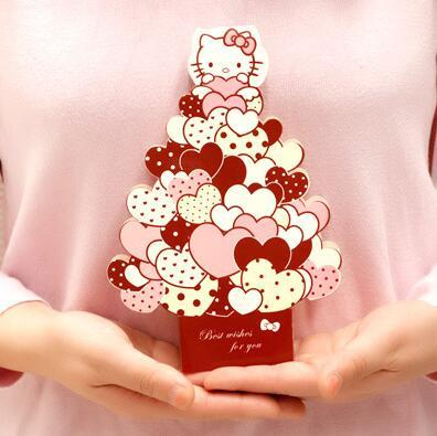 Cute hello kitty 3d greeting card postcard birthday message card set cute hello kitty 3d greeting card postcard birthday message card set thanksgiving card letter envelope gift card in paper envelopes from office school m4hsunfo