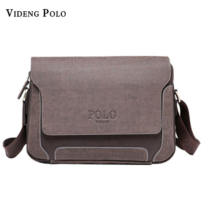 Luxury design casual men's leather Shoulder Bag men travel bags POLO famous brand male messenger bags Man Crossbody Bags