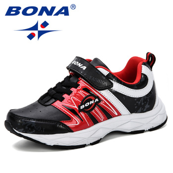 BONA 2019 New Boys Sneakers Shoes Kids Sport Shoes Girls Sneakers Children Breathable Student Casual Shoes Fashion Autumn Shoes недорого