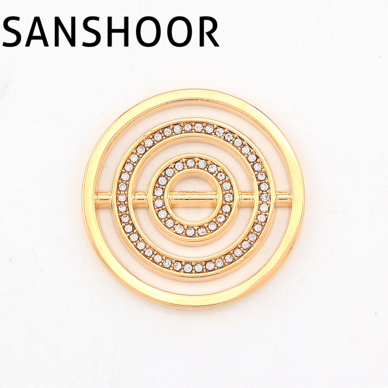 ⊰33mm large Top moda cristal chispeante moneda para 35mm Marcos ...