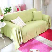 Ice Cream Color Sofa Cover Slip Resistant Solid Cotton Customize