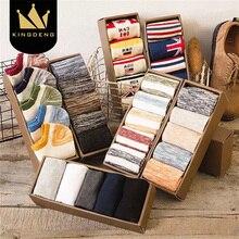 KingDeng Breathable Man Socks Harajuku Colorful Ankle Cool stripe Sock Summer Splice  Non-Slip Thin Section Fashion Design