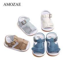 Summer Canvas Rubber Bottom First Walker Baby Boys Girls Shoes For Newborn Buckle Strap Infant Sneaker Casual Moccasins Shoes