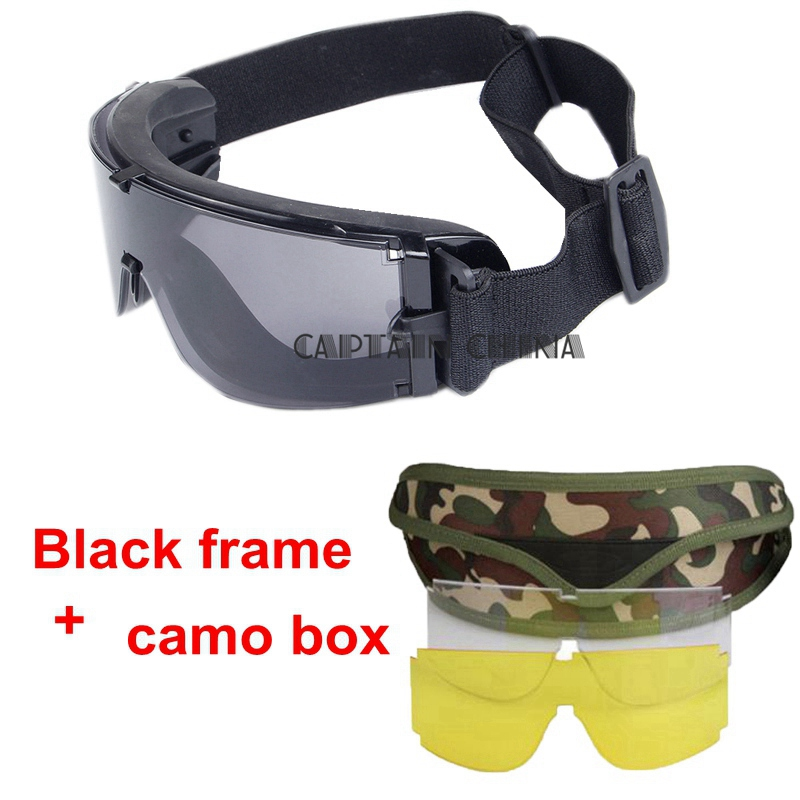 Occhiali tattici militari X800 Uomini Occhiali Eyewear Paintball CS Army Outdoor Sport antivento Desert Tactical Goggles