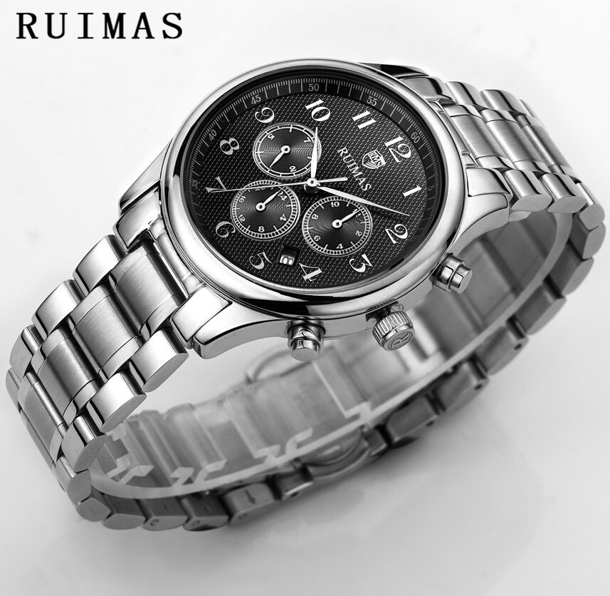 Luxury Classic Watch Men Business Automatic Watch Mechanical Analog Waterproof Watches Steel Zegarek Meski Clock Montre Homme forsining date display automatic mechanical watch men business leather band watches modern gift dress classic analog clock box