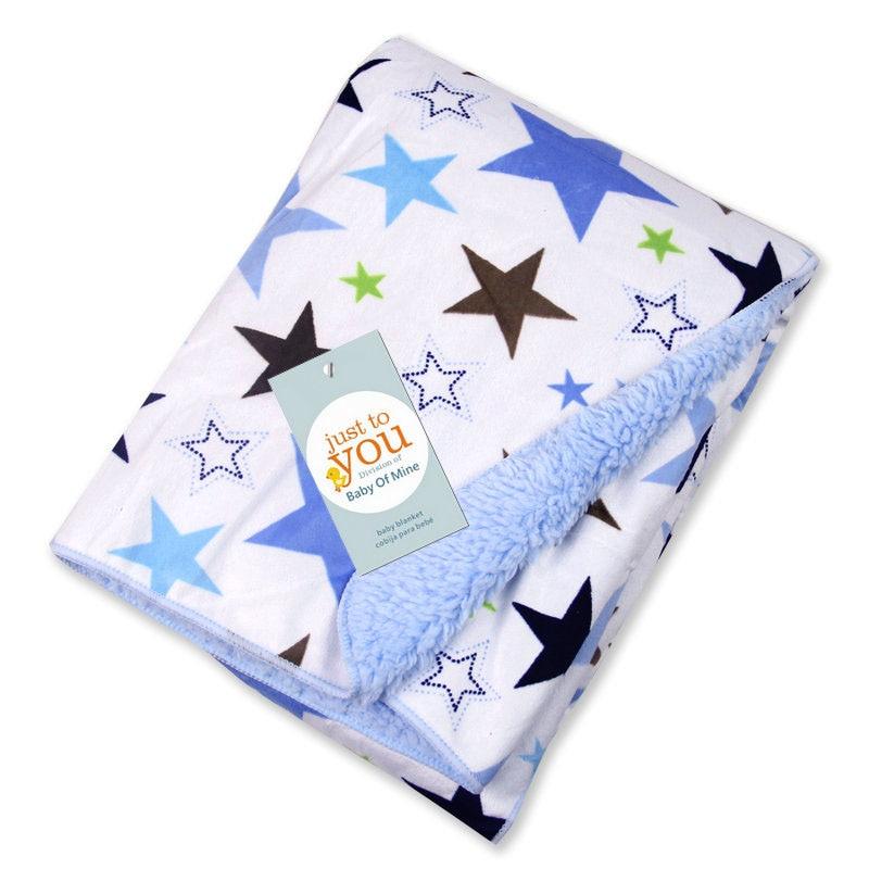 Summitkids Sherpa Fleece Baby Blanket Unisex Newborn Swaddle Wrap Super Soft Baby Receiving Blanket Warm Cobertor Baby Bedding
