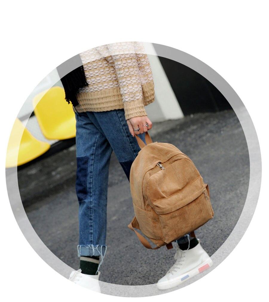 HTB1R.Q5cUgQMeJjy0Fgq6A5dXXab Women Backpack Youth Small Solid Casual Backpacks Students School Bag Teenage Girls Vintage Laptop Bags Rucksack Mochila