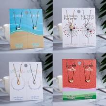Rinhoo, Новое поступление, ювелирное ожерелье для пар, изысканное насекомое, краб, лист, кулон, ожерелье, бумажная карта для влюбленных, лучшие подарки для любви, 2 шт