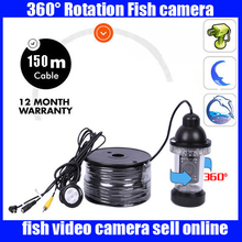 rotatable Underwater Camera For Fishing with 150M Cable 18pcs Leds Fish Finder  Waterproof for Ice/Sea/River Fishing