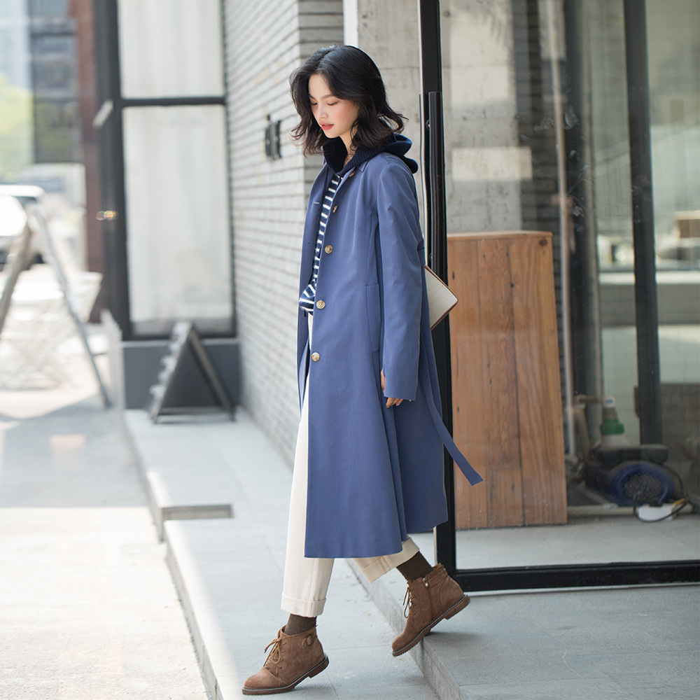 Trench Coat for Women Runway Clothes Loose Windbreaker Long Duster Women 2019 Autumn Fashion High Quality Designer Brands Coats in Trench from Women 39 s Clothing