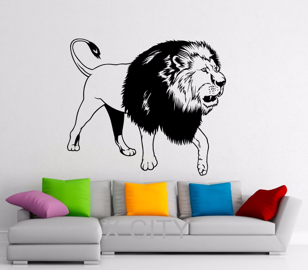 Lion Wall Decal Vinyl Stickers African Wild Cat Pride Animals Home Interior Design Art Office Murals Bedroom Decor