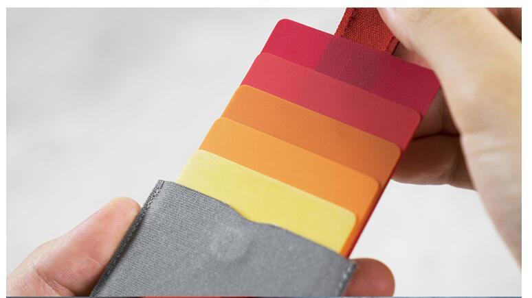 10 pieces faux Leather Card Holder Mini Slim Portable Pulled Men Card Wallet Gradient Color 5 Cards Money Short Women Purse