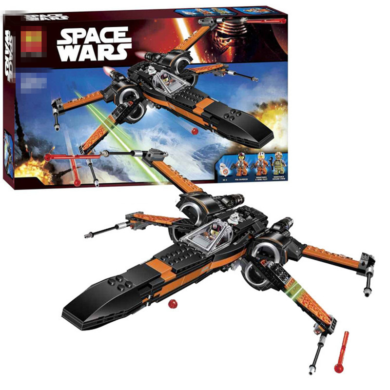 LOZ Star Wars Poe's X-wing Fighter Star Building Blocks Fighter Assembled Fighter Compatible With Legoinglys Star wars звездолет hot wheels star wars x wing fighter cgw52