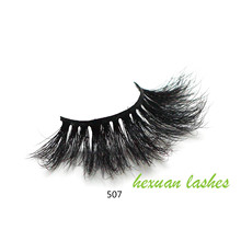 HEXUAN 5D Mink 25mm lashes with Custom Packaging Boxes Makeup super long cruelty free mink hair eyelashes