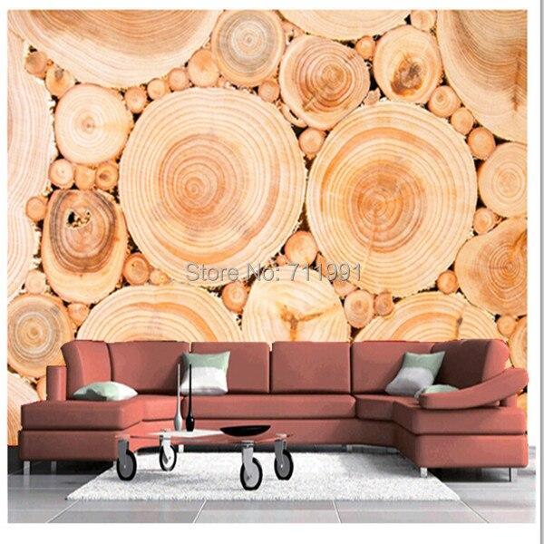 Free Shipping Custom 3d Wood Texture Wall Mural Modern Mural
