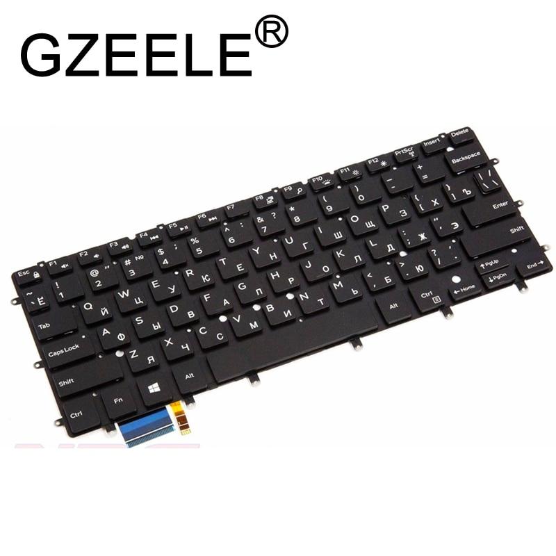 GZEELE Russian RU laptop keyboard for Dell XPS 13 9343 13 9350 9360 15BR N7547 N7548