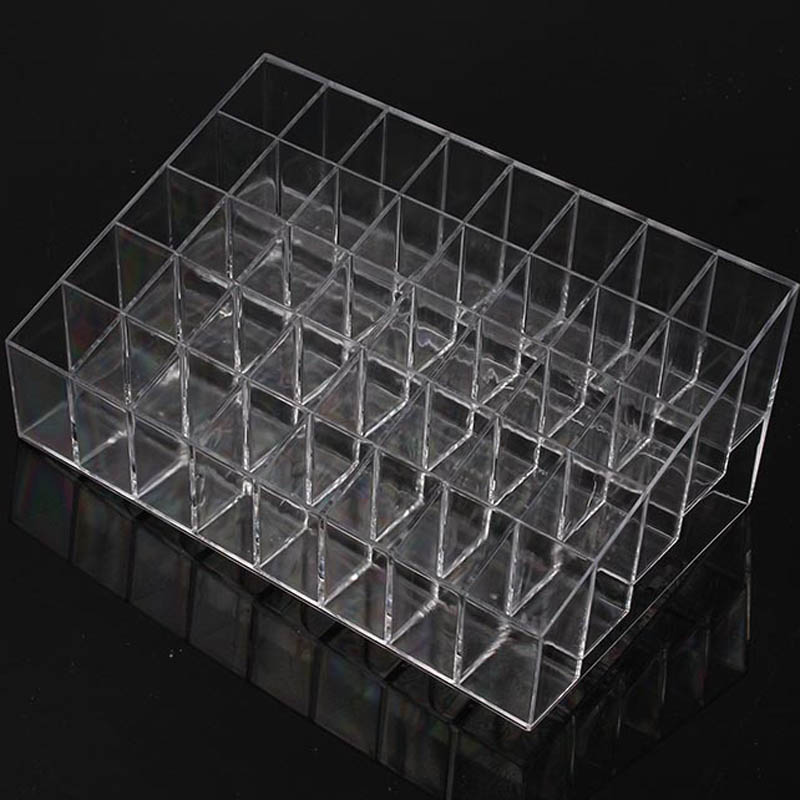 Trapezoid Clear Makeup Display 40 Lattices Lipstick Stand Case Cosmetic Organizer Holder Box Hot Sale High Quality GI678406