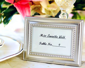 Factory Directly Sale Wedding Favor -beaded Metal Phtho Frame-which Can Be Used As Photo Frame Or Place Card Holder Wholesale