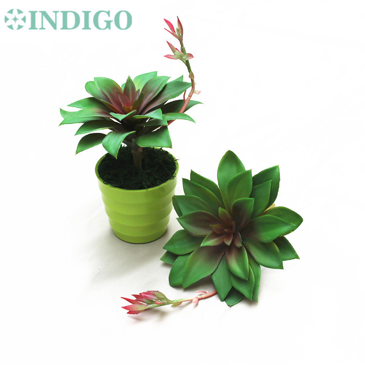 INDIGO- 96pcs Big Size Century Plant Agave Artificial Succulent Plant Plastic Flower Green Plant Wall Background Free Shipping