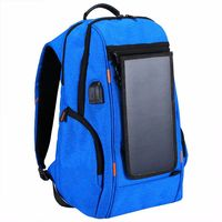 TEXU Multi function Solar Panel Power Breathable Casual Backpack Laptop Bag with Handle, External USB Charging Port