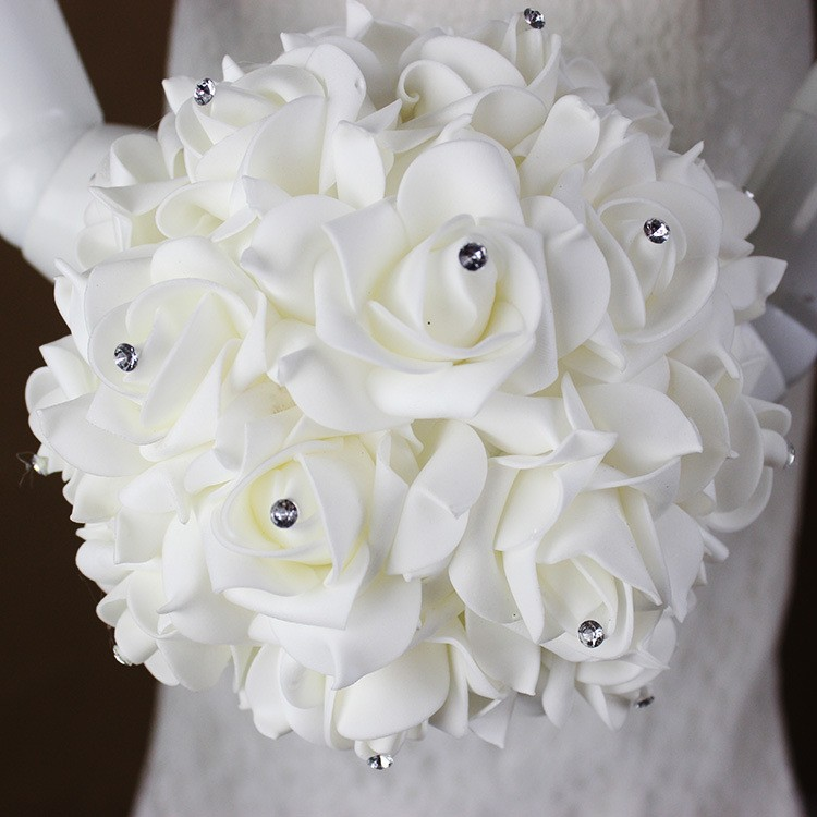 2016-Artificial-White-Royal-Blue-Rose-Flowers-Bridal-Bouquet-With-Rhinestone-Crystal-Bouquets-For-Weddings-Wedding (1)