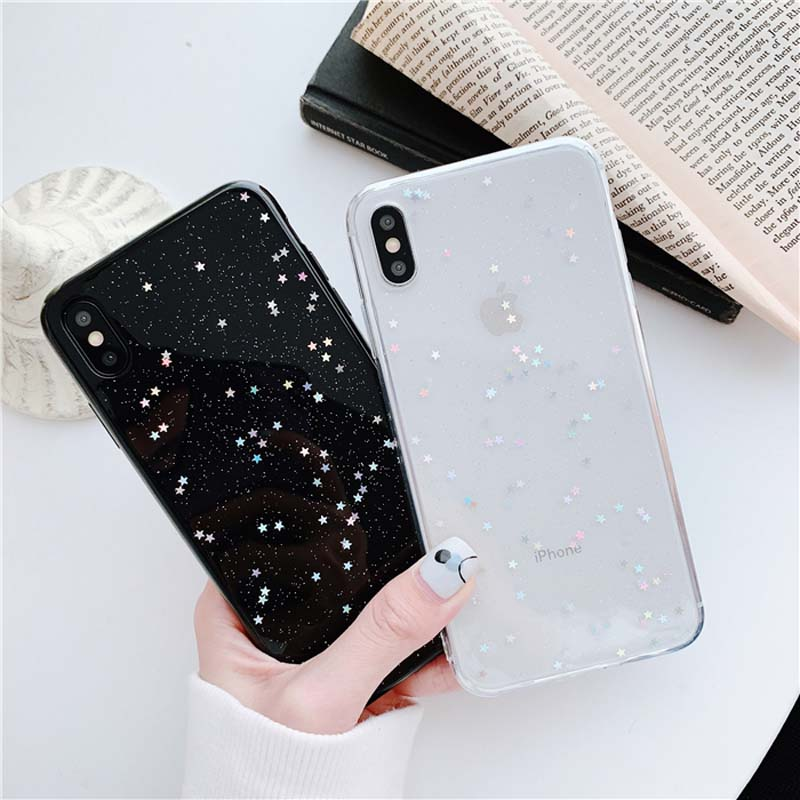 HTB1R.S2M3HqK1RjSZFEq6AGMXXaE - Lovebay Bling Star Glitter Soft TPU Phone Cases For iphone 11 Pro XS Max XR X 8 7 6 6S Plus 5S SE Powder Transparent Cover