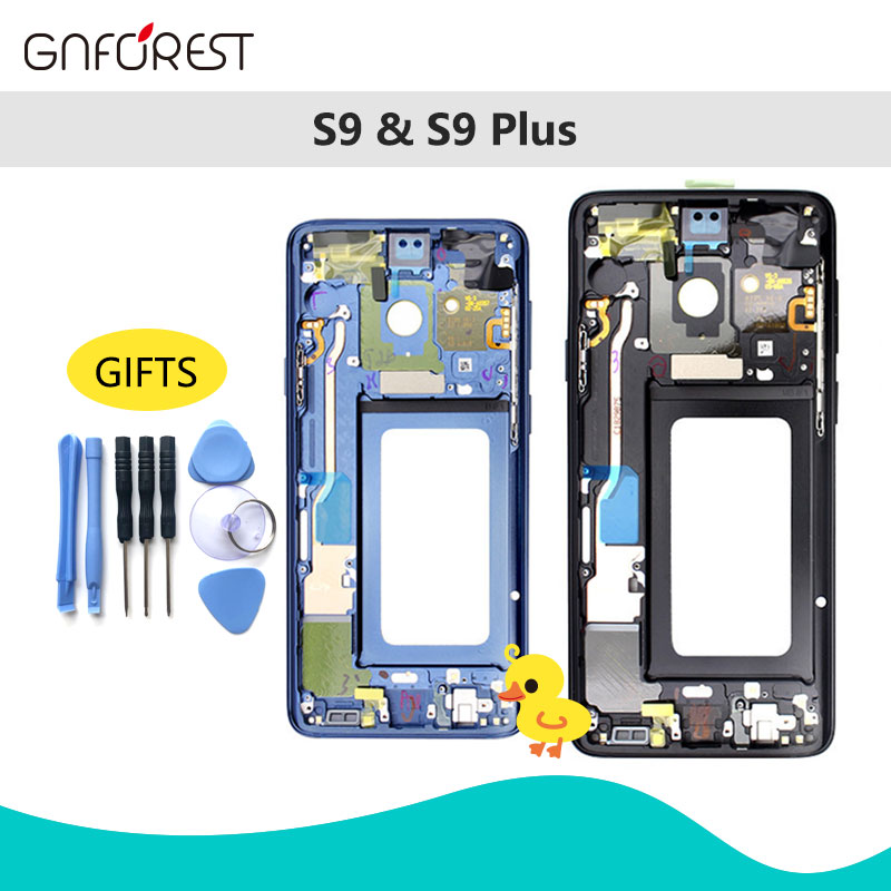 Housing Camera-Lens Chassis Sim-Card-Parts Middle-Frame Midplate G950 S8 S8-Plus Galaxy