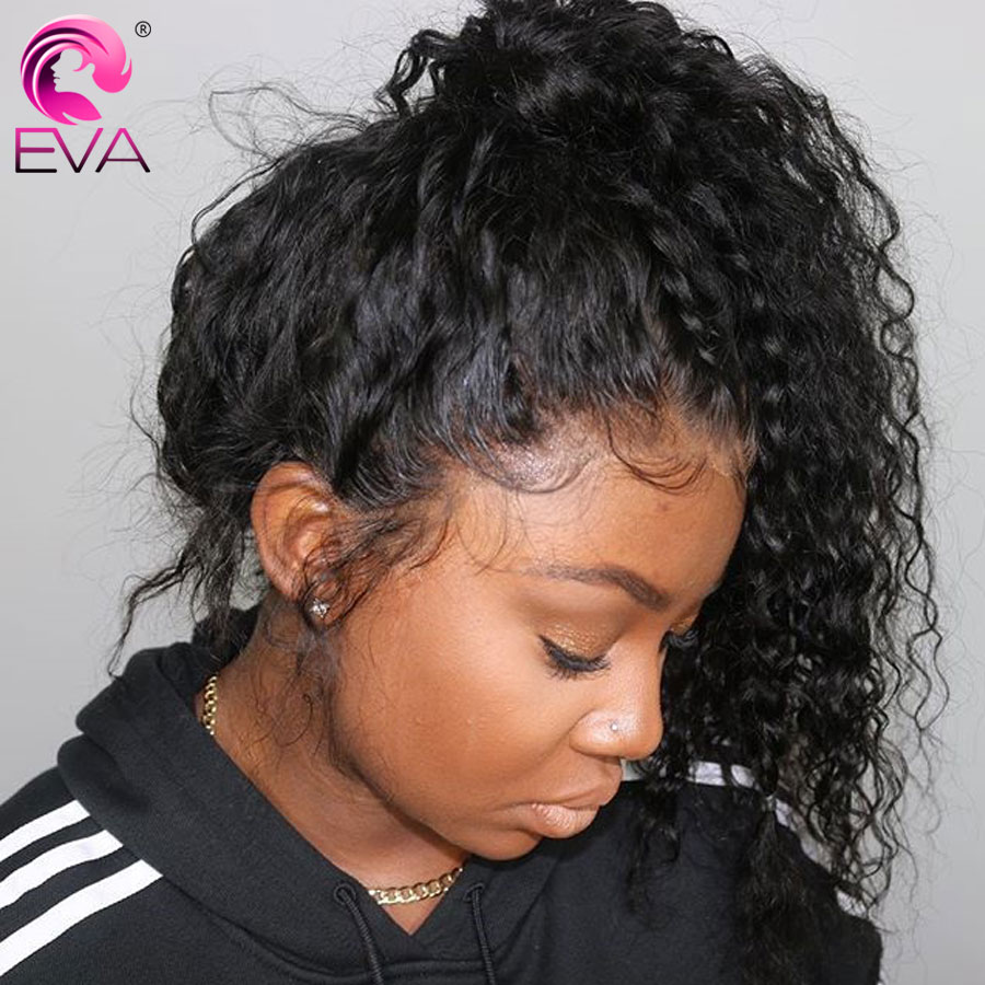 Eva Hair 360 Lace Frontal Wig For Black Women Curly Lace Front Human Hair Wigs Pre Plucked With Baby Hair Brazilian Remy Hair