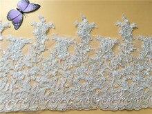 9Yards Bridal Lace Trim Bling Sequins Beads Fabric For Veil, Wedding Dresses, Garments Motif Appliques