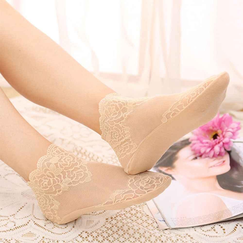 น่ารักน่ารักดอกไม้ตาข่ายเซ็กซี่ Hollow ถุงเท้าเรือผู้หญิง Lace Breathable Ruffle Frilly ข้อเท้าถุงเท้านุ่มสบายยืดหยุ่นผู้หญิงถุงเท้า