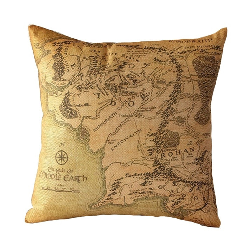 The Load Of The Rings Cushion Covers Cotton Linen Pillow Cover Use Awesome Load Pillow Covers