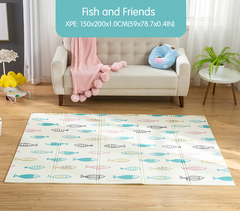 HTB1R.SPcv1G3KVjSZFkq6yK4XXak Infant Shining Baby Play Mat Xpe Puzzle Children's Mat Thickened Tapete Infantil Baby Room Crawling Pad Folding Mat Baby Carpet