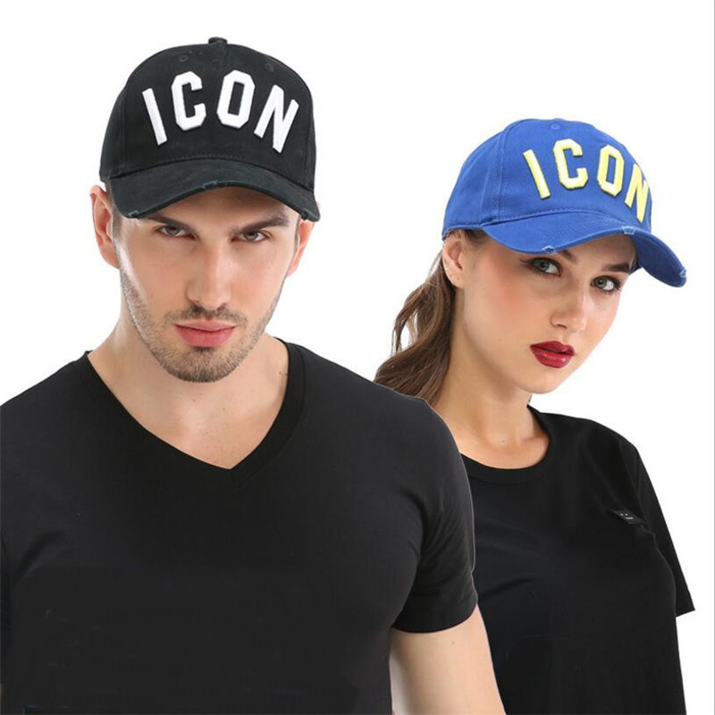 DSQICOND2 Brand Baseball Caps For Men Women High Quality Snapback Hats ICON Logo Embroidery Hat Black Cap Casquette Dad Hat satellite 1985 cap 6 panel dad hat youth baseball caps for men women snapback hats