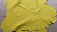 Yellow Genuine Grain Sheep Skin Leather Material Sale By Whole Piece