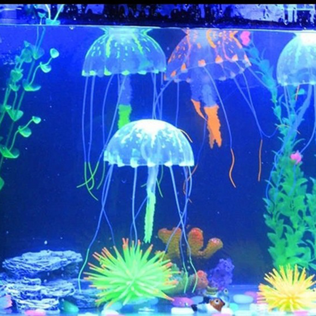 Latest Lovely Silicone Artificial Jellyfish Style Swim