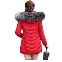 New warm women jacket 2018 Fashion Women coat parkas mujer hooded thick winter slim womens  abrigo