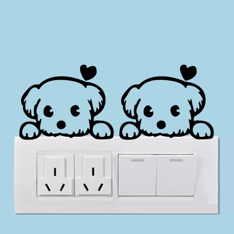 DIY Funny Cute Black Cat Dog Rat Mouse Animls Switch Decal Wall Stickers DIY Funny Cute Black Cat Dog Rat Mouse Animls Switch Decal Wall Stickers HTB1R