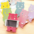 Cute Bear Design Phone Stand Holder Universal Wood Mobile Phone Mount Bracket Dock For iPhone For iPhone 6 7 Samsung HTC MN127