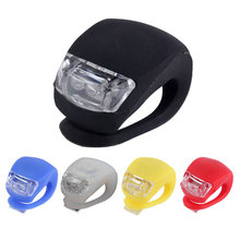 2017 Quality 1 pcs Waterproof LED Head Front Rear Wheel Bicycle Bike Cycling Silicone Head Front Rear Wheel Safety Light Lamp