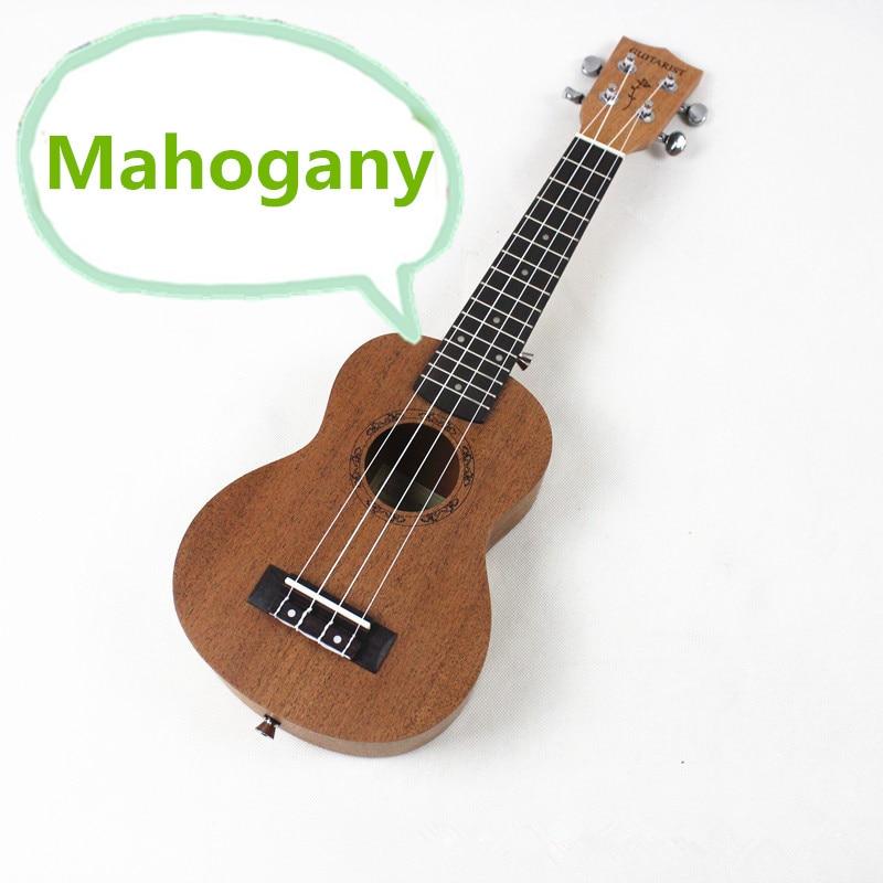 Soprano Ukulele 21 Inch Mini Hawaiian Guitar Mahogany 4 Strings Ukelele GUITARIST Handcraft Wood Guitarra Uke