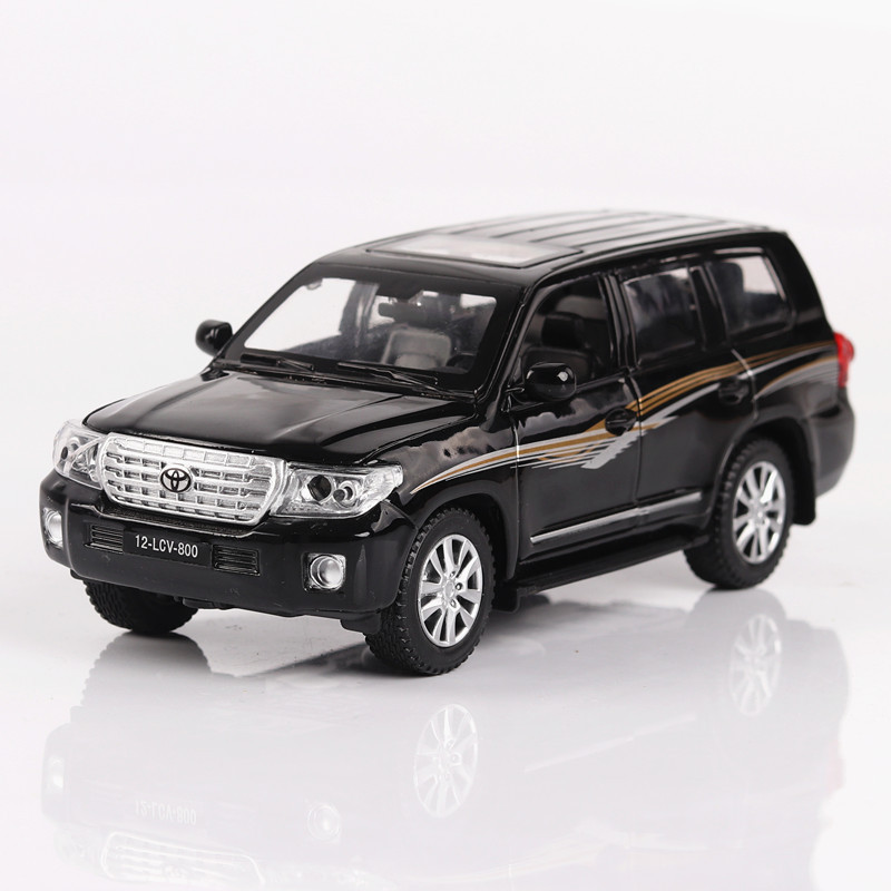 Car Models 1:32 Toyota LAND CRUISER Vehicles Alloy Car Toys For Children Model Simulation Diecast Pull Back Sound Light 3 Colors kidami maybach alloy car model 1 24 simulation alloy car model children boy sound and light pull back toy car