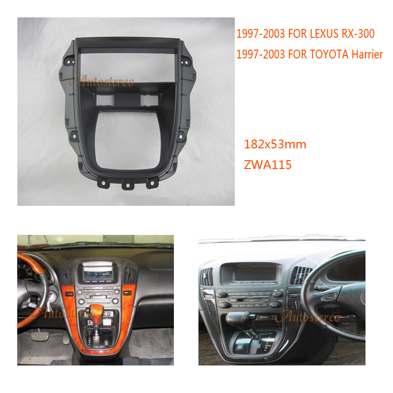 Car Stereo Radio fascia for LEXUS RX 300 1997 2003 TOYOTA Harrier 1997 2003
